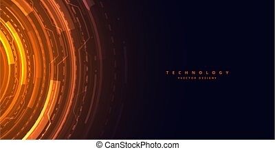 futuristic technology concept background with digital diagram