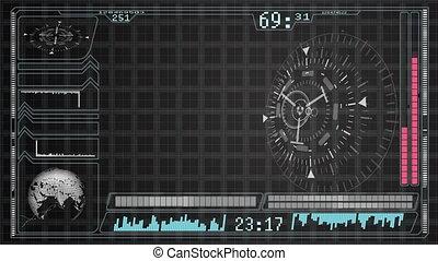 Futuristic Technology Interface Computer Data Screen