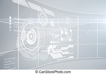 Futuristic technology interface