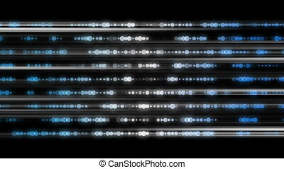 Futuristic technology light stripe animation, loop