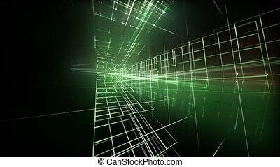 Futuristic technology light video animation, loop HD 1080p