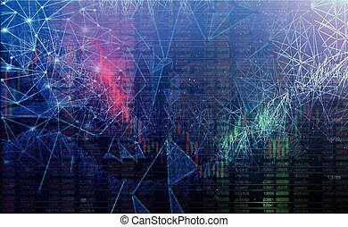 futuristic trading graphics background. Global colors. Gradients used. Vector