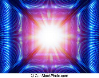 futuristic tunnel - greased bright multi-colored abstract ...