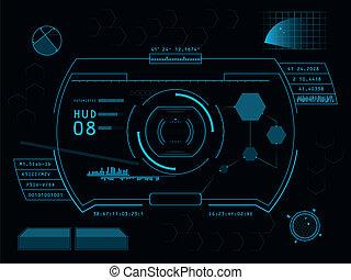 Futuristic user interface HUD - Futuristic blue virtual ...
