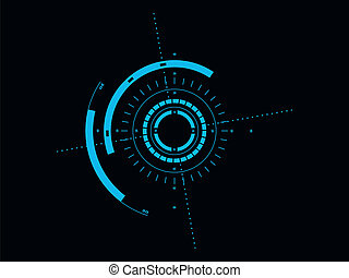 Futuristic user interface HUD - Futuristic blue virtual ...
