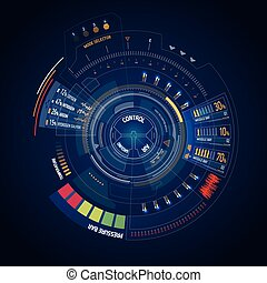 Futuristic user interface HUD - Futuristic sci-fi virtual ...