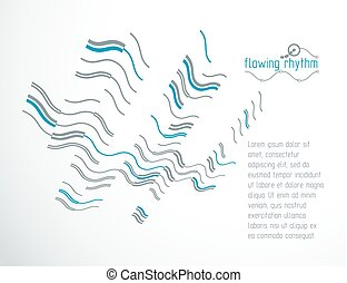Futuristic vector technology background. Abstract wavy lines pattern, art graphic illustration can be used as booklets cover design.