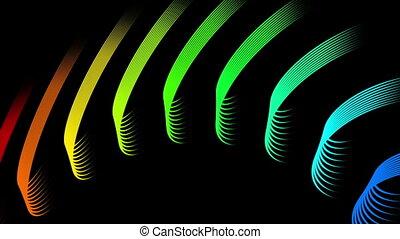 Futuristic video animation, loop - Futuristic loop video...