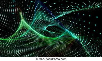 Futuristic video animation, loop - Futuristic technology...