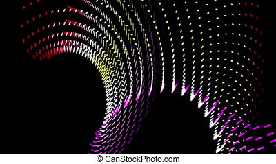 Futuristic video animation, loop - Futuristic video...
