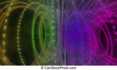 Futuristic video animation, loop HD