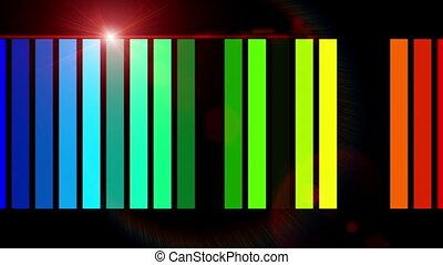 Powerful technology light stripe video animation, loop HD 1080p
