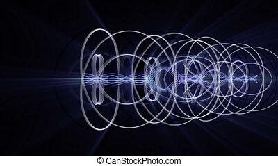Futuristic video animation, loop