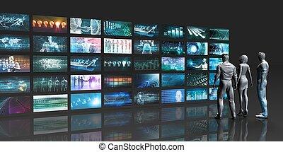 Futuristic Video Wall