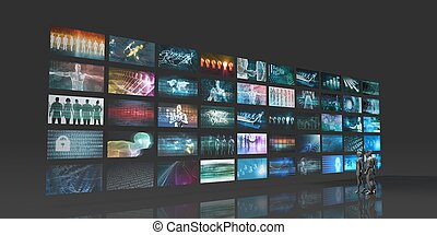 Futuristic Video Wall