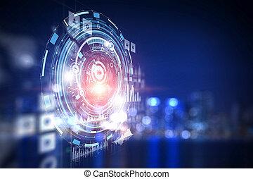 Futuristic virtual interface