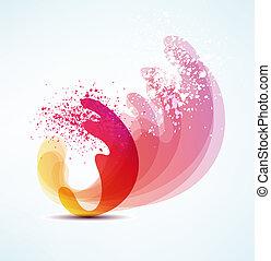 futuristic wave. background for design