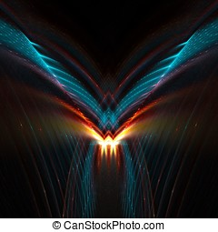 Futuristic Wings Abstract - Streaking wings with flash...