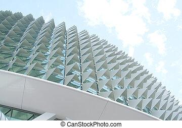 futuristický, a, jedinečný, architektura