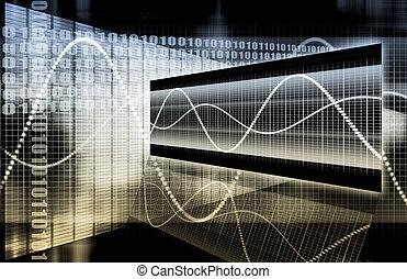 futuristický, graf, povolání, uhladit