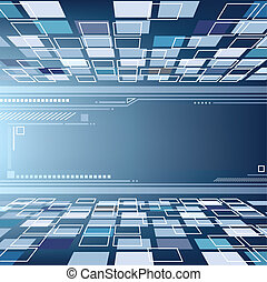 futuristický, perspektivní, grafické pozadí