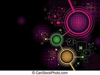 futuristico, astratto, vettore, ciao-tecnologia, fondo