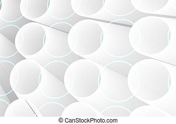 futuristico, bianco, cerchi