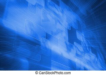 futuristico, blu, squadre