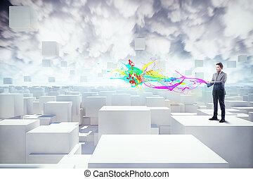 futuristico, comunicazione
