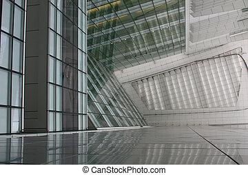 futuristico, corporativo, costruzione