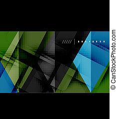 futuristico, geometrico, fondo, affari, ciao-tecnologia