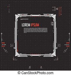 futuristico, grafico, interfaccia utente