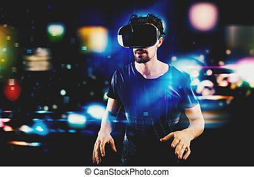 futuristico, multimedia