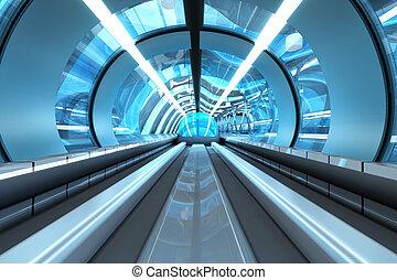 futuristico, stazione della metropolitana