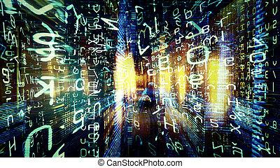 futuristico, tecnologia, schermo, 10546