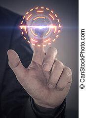 futuristico, touchscreen, concetto