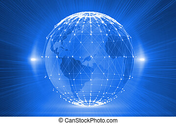 futuristisch, gloeiend, globe