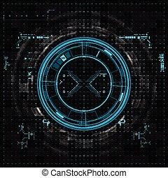 futuristisch, grafisch, gebruikersinterface
