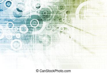 futuristisch, ontwerp, achtergrond