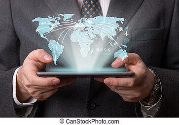 futuristisch, tablet