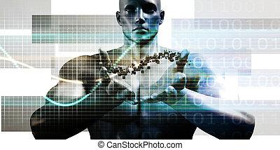 futuristisch, technologie