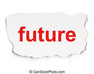 futuro, carta, concept:, fondo, tempo