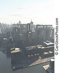 futuro, ciudad, -, el, canal, distrito
