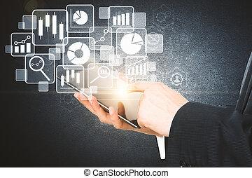 futuro, e, tecnologia, conceito