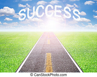 futuro, estrada, sucesso