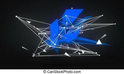 futuro, forma, 3d, render., astratto, loopable, animazione