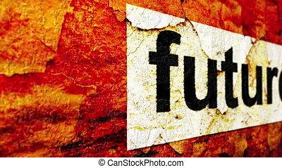 futuro, grunge, concetto