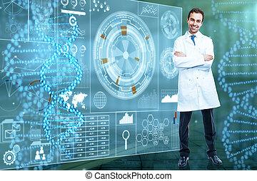 futuro, medicina, e, innovazione, concetto
