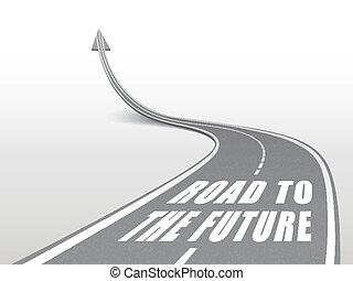 futuro, parola, strada, autostrada