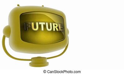 futuro, su, cappio, alfa, unito, tv